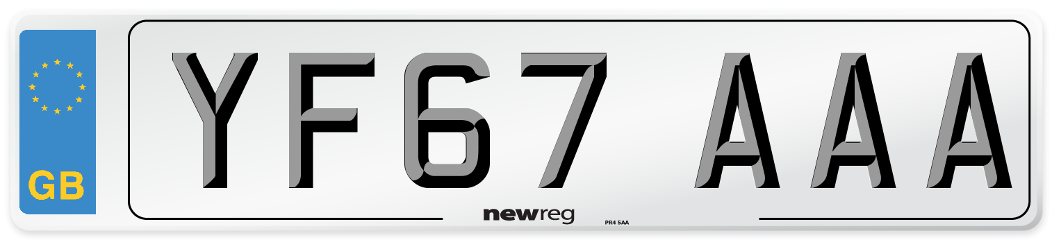 YF67 AAA Number Plate from New Reg
